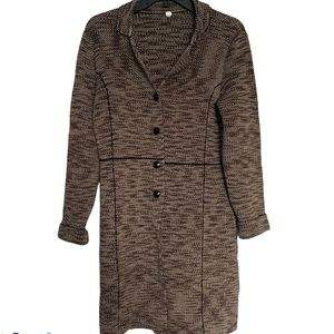 Margaret O'leary Cardigan Brown Buttons XS Long